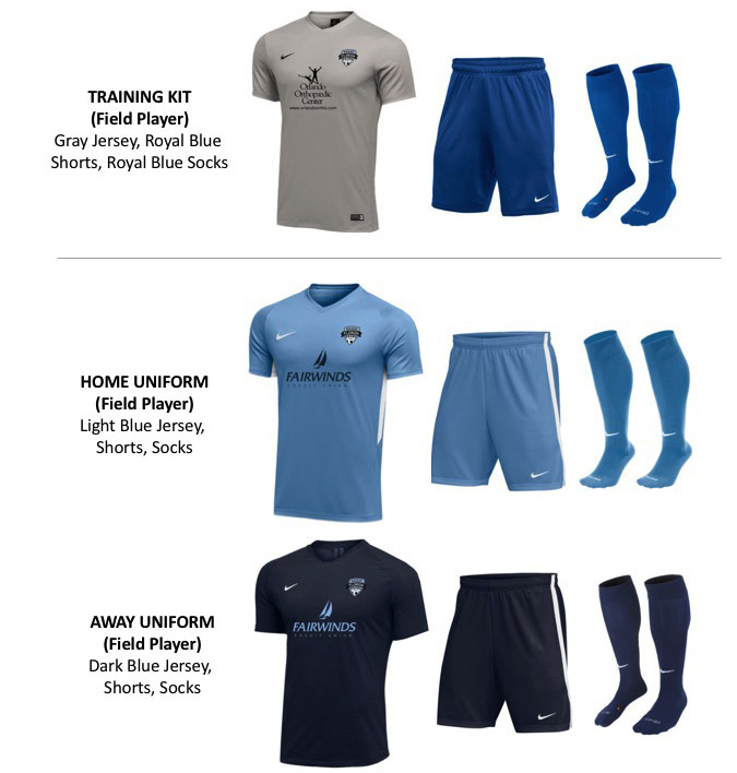 2019 2021 Uniform Kits PreSelect